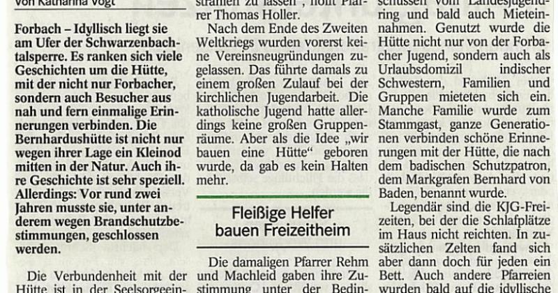 Zeitungsbericht Badisches Tagblatt 4. März 2016